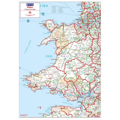 Postcode Area Map 5 - Wales