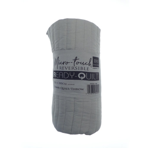 Country Club Reversible Ready Quilt, Grey
