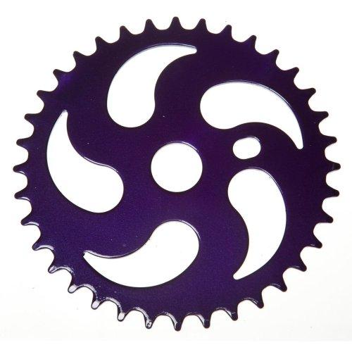 36T TEETH SPROCKET for ONE PIECE CRANK Bike/Bicycle PURPLE NINJA STYLE NEW