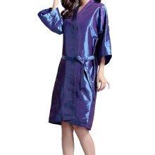 Professional Hair Salon Cape Waterproof SPA Kimono Bath Robe-Purple