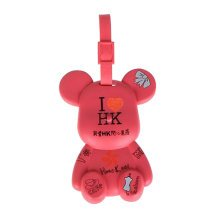 Fashional Luggage Tag Bag Tags Silicone Name Tag Travel Tag [Red HK]