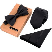 Formal/Informal Ties Set Mens Fashionable Necktie/Bow Tie/Pocket Square Neckties