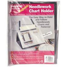 PROP-IT Magnetic Needlework Chart Holder W/Magnifier-