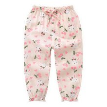 Comfortable Soft Children's Trousers, Rose Pink And Rabbits