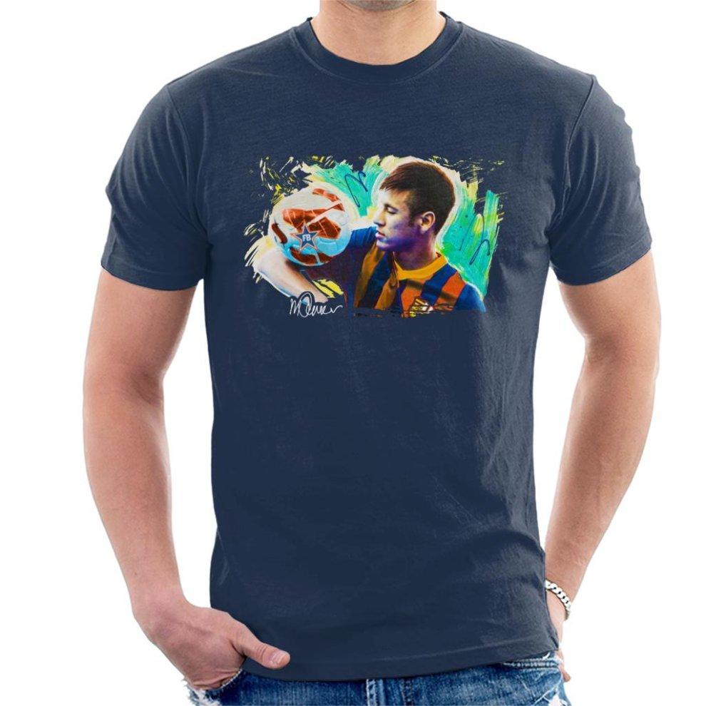 competitive price 0ba31 646d1 Sidney Maurer Original Portrait Of Neymar Barcelona Men's T-Shirt