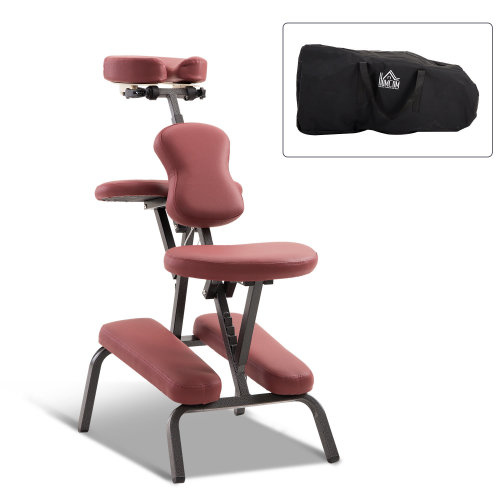 HOMCOM Foldable Massage Chair, Steel-Red