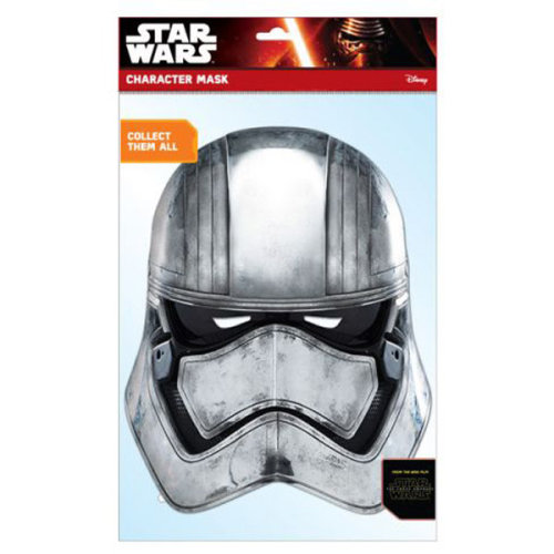 Star Wars Episode 7 Captain Phasma Face Mask - Multi-colour - Official Card -  mask star wars official card force face awakens fancy dress characters