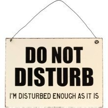Do Not Disturb Metal Wall Signs Plaques Retro Vintage Novelty Door Wall Hanging Gift Home