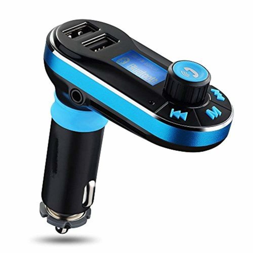 MOKE Fm Transmitter Handsfree Bluetooth for Car Radio Transmitter Mp3 Player with Dual USB Remote Control for iPhone 6 6s 5s 6 Plus Samsung Galaxy...