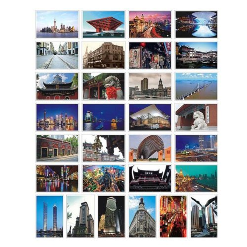 30PCS 1 Set Creative Postcards Artistic Beautiful Postcards, Shanghai