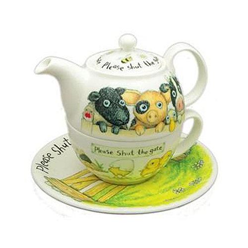 Roy Kirkham Tea for One Set, Please Shut The Gate Design