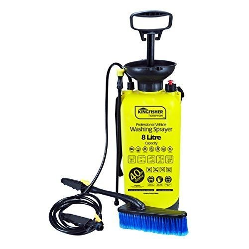 Kingfisher 8L High Pressure Sprayer Hand Pump 40PSI Jet Cleaner & Brush PS8000