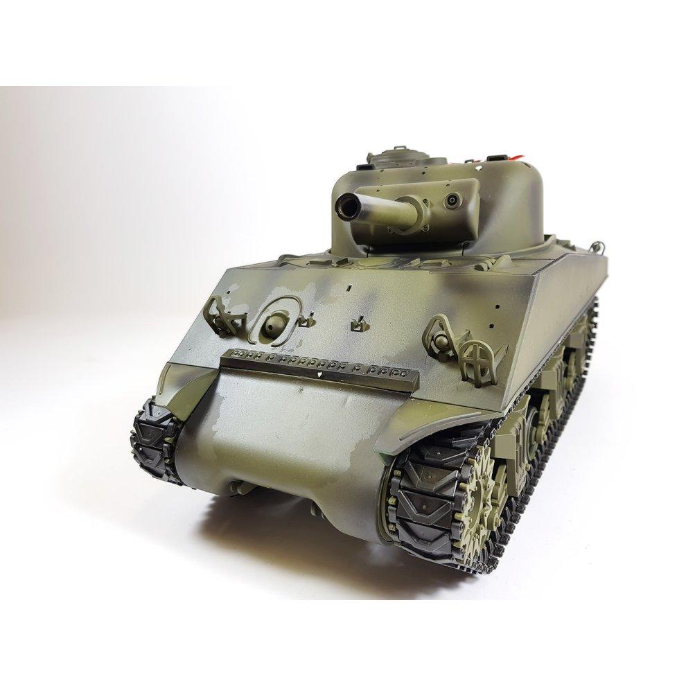 bc7fb32df4a5 Heng Long 1 16 M4A3 Sherman Radio Control RC Tank Smoke   Sound 2.4Ghz ...