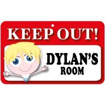 Keep Out Door Sign - Dylan's Room