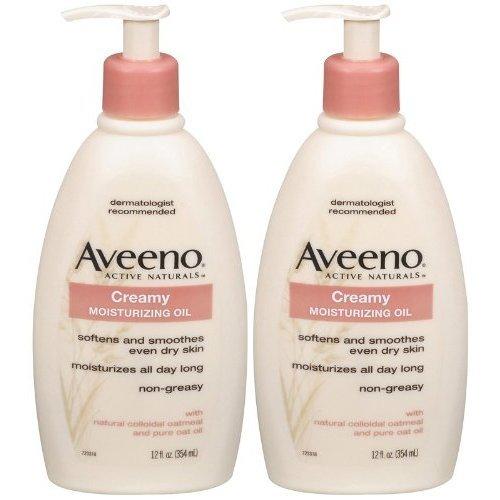 Aveeno Creamy Moisturizing Oil  12 oz  2 pk