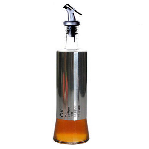 HouseholdGlass Oil Jar Oil & Vinegar Bottle Oil Container Glass Containers, K