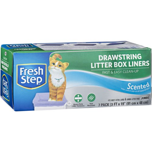 Fresh Step Drawstring Litter Box Liners 7/Pkg-Jumbo Scented